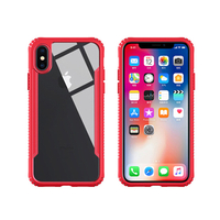 Tempered Glass 2 in 1 TPU+ Clear Glass Phone Case for IPhone X