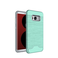 Slot Card TPU PC Phone Case For Samsung S9/S9+