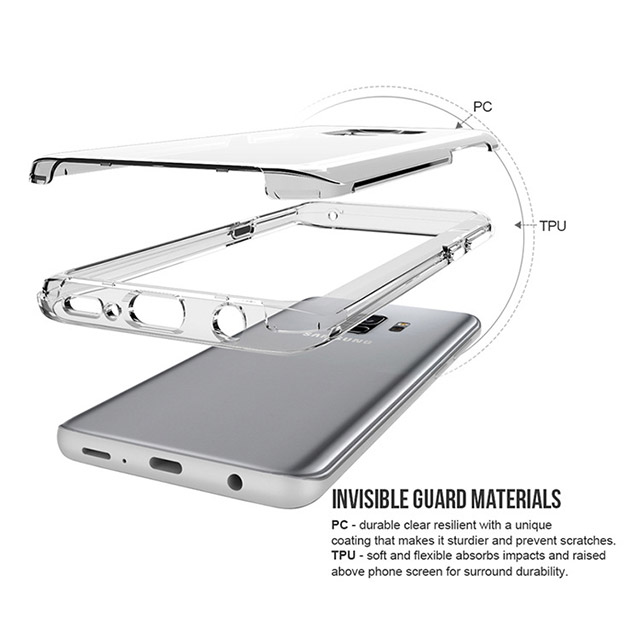 Clear anti shock Case tpu+pc phone cover for Samsung S9/S9+